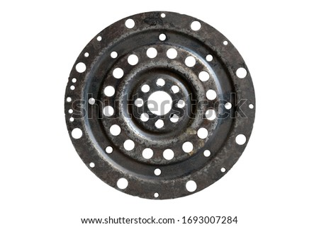 The pierced steel plate is a piece of material in the driving element of a car.
