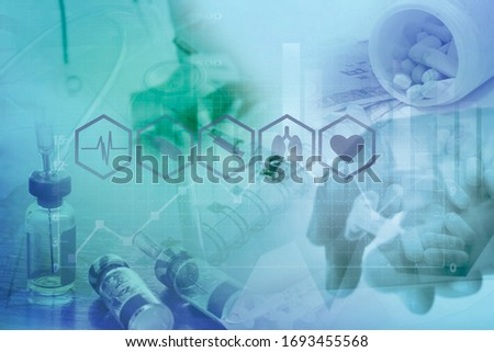 Medical examination and healthcare business concept Royalty-Free Stock Photo #1693455568