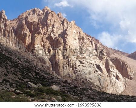 Mountains of Mendoza Argentina. Arenales climbing. #1693595836