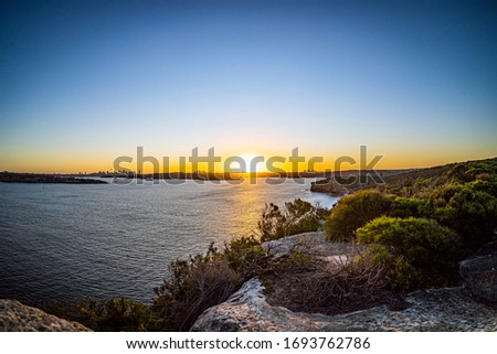 Sunset view from north head manly Royalty-Free Stock Photo #1693762786