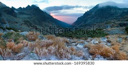 Velka studena dolina valley in High Tatras, Slovakia  #169395830