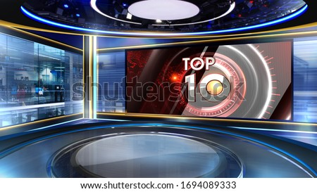 news Virtual set studio for chroma footage Realize your vision for a professional-looking studio – wherever you want it. With a simple setup, a few square feet of space, and Virtual Set , you can tran Royalty-Free Stock Photo #1694089333