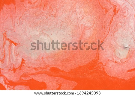 Glitter blurred abstract hot color orange silver picture design bokeh art artist shimmer shiny textured artwork. Luxury background painting.