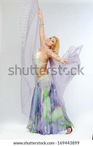 beautiful blonde in the active Arab Dance #169443899