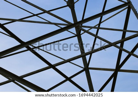 power lines. power equipment system designed to transmit electricity background #1694442025