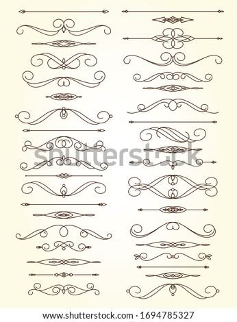 Set of text delimiters for your projects. Vector illustration. #1694785327