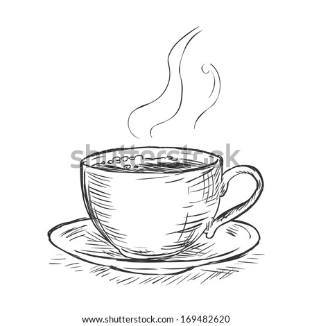 vector sketch illustration - cup of coffee #169482620