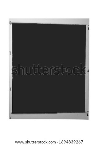 Medium format 120 film frame.With white space.