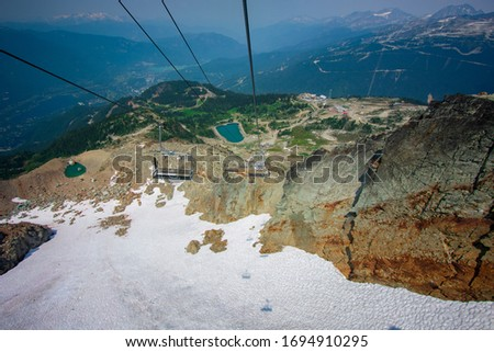 The view of the chairlift in Whistler, Canada #1694910295