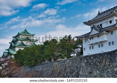 Picture of the main keep of Nagoya castle and the southwest turret.