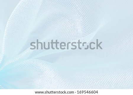 blue organza macro texture background