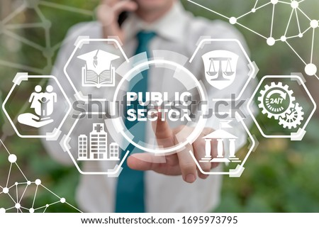 Public Sector Government People Business Concept. Governmental System Citizen Service Concept. Royalty-Free Stock Photo #1695973795