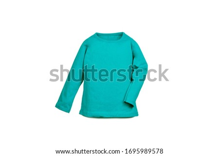 Colorful children clothes isolated in white background