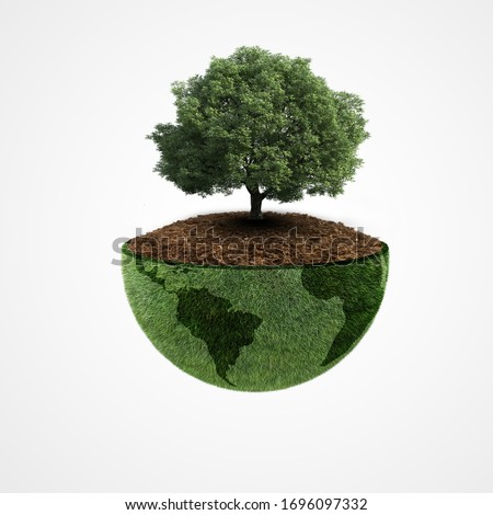 Ecology concept, World environment day, earth day, 22 April, Green earth, tree planting ,happy Earth Day, saving the planet, Environmentally friendly, Save environment forest, world biodiversity day #1696097332