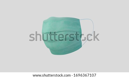 surgical mask, Virus protection, Medical Protective Mask Isolated on grey, 3D rendering #1696367107