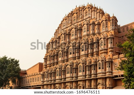 Hawa Mahal (Palace of the Winds) is a palace in Jaipur, Rajasthan, India. Made with the red and pink sandstone, the palace sits on the edge of the City Palace, Jaipur. #1696476511