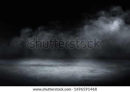 concrete floor and smoke background Royalty-Free Stock Photo #1696591468