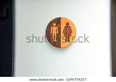 Signboard man and woman. Characters