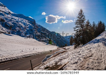 A beautiful scenery of Glacier of Diablerets, in the Swiss Alps, Switzerland #1696785949