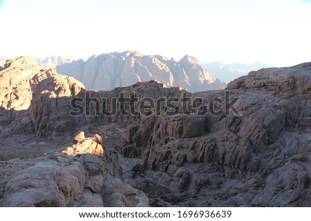 stunning landscape of the Mountains of st. Catherine , Egypt #1696936639