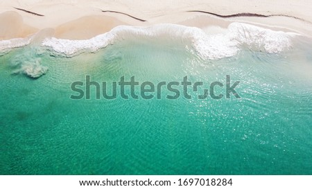 Tropical beach with clear water, view from above #1697018284