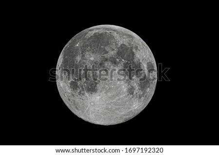 Full moon close-up, lunar photos, details. #1697192320