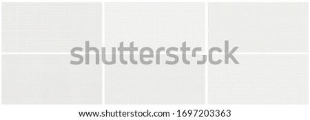 Seamless editable set of vector graph paper background. Vector illustration template. Black and white set. #1697203363