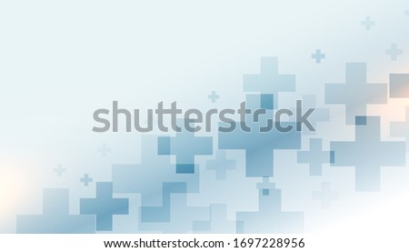 Futuristic healthcare and medical background - Image