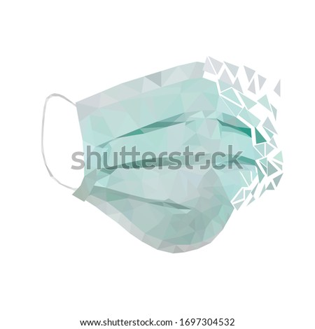 medicine mask on the face in low poly style #1697304532