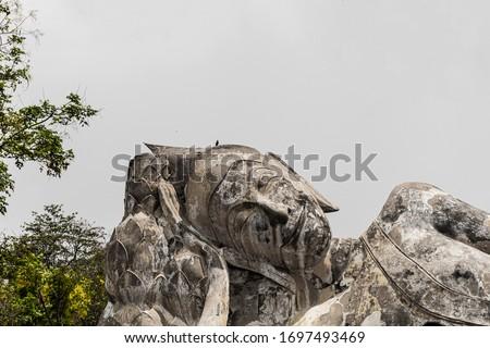 The Reclining Buddha of Wat Lokayasutharam, Ayutthaya, Thailand #1697493469