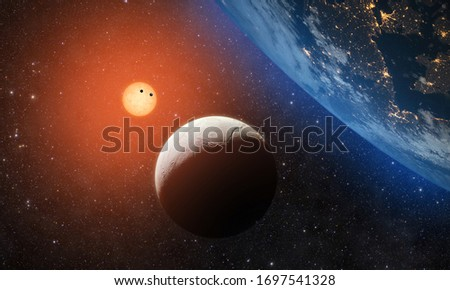 Solar System - Elements of this Image Furnished by NASA