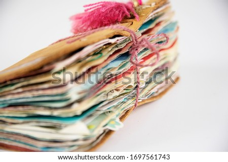 Mixed media book pages art journaling abstract art
