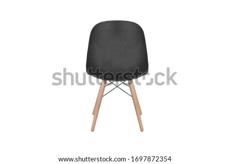 wooden chair isolated on white #1697872354