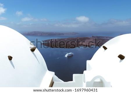 Picture of Cruise Ship in the Caldera Santorini Oia