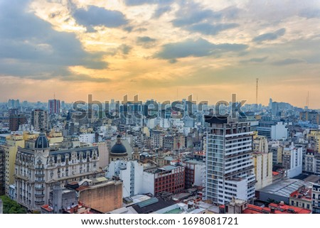 urban landscape, tango argentina, lights background, travel icon, travel, urban street, urban, buildings, buildings city, sunset, country, contry, blue hour, color, picture, image, guide, world, great