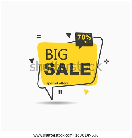 big sale.Yellow tag templates with special offers for purchase, strokes and elements.vector illustration #1698149506