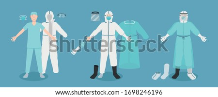 Medical Personal Protective Equipment (PPE) full set Royalty-Free Stock Photo #1698246196