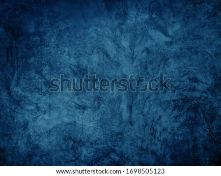 Beautiful Abstract dark blue ocean concrete wall texture background. Polished concrete floor grunge surface. Royalty-Free Stock Photo #1698505123