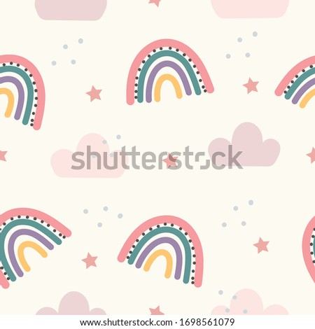 Abstract backround with rainbow seamless pattern. vector. #1698561079