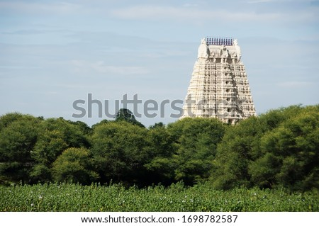 India Tirumala Venkateswara Temple, Tirupati, Andhra Pradesh. The main temple is a magnificent example of the fine Indian temple architecture. #1698782587