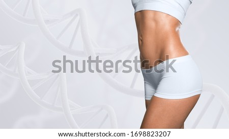 Woman with a perfect slim body, Slimming concept. Royalty-Free Stock Photo #1698823207