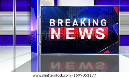 3D rendering breaking news background is perfect for any type of news or information presentation. The background features a stylish and clean layout   #1699051177