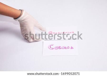 Health young women taking coronavirus measures #1699052071