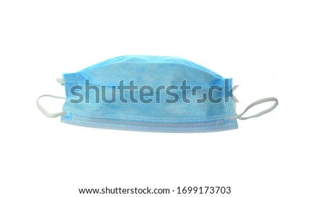 Medical protective mask on white background. Health care #1699173703