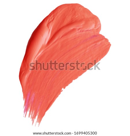 Oil or acrylic smear. Makeup pink lipstick swatch.  #1699405300