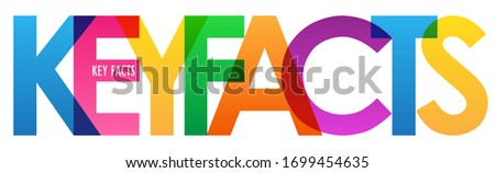 KEY FACTS colorful vector typography banner #1699454635