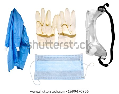 Personal Protective Equipment (PPE) Kit Royalty-Free Stock Photo #1699470955