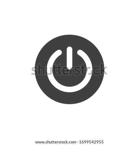 Power button icon on white background Royalty-Free Stock Photo #1699542955