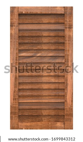 Wooden window isolated 3d rendering on white background #1699843312