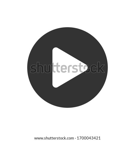 Play Icon for Graphic Design Projects Royalty-Free Stock Photo #1700043421